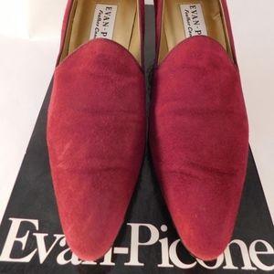 Evan Picone Berry Suede 7.5 Dress Shoes Heels